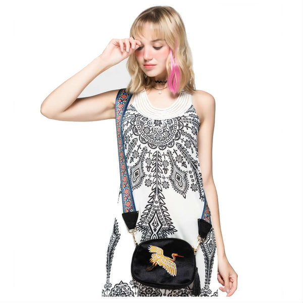 EAGLE-TASTIC - Fine Corduroy Embroidered Crossbody Bag