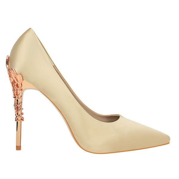 EDEN - Gold Leaf Court Heels