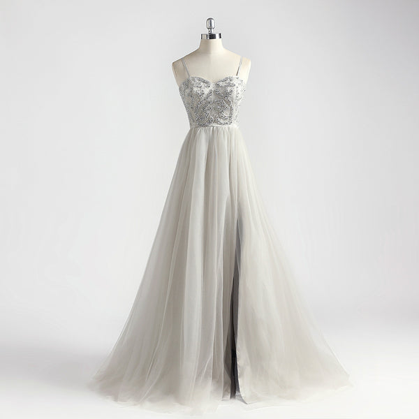 "<p style=""font-size: 18px;""><b>GLAMOUR</b></p><p style=""color:grey"">MULTI BEADED SWEETHEART A-LINE GOWN</p>"