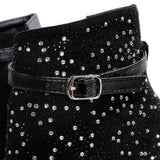 <p><b>GLAMOUR</b><br><p>Jewel Embellished Cutout Boots</p>