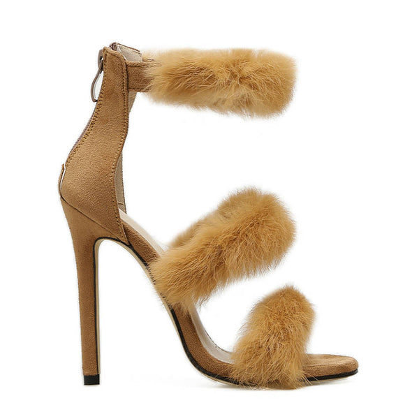 <p><b>HELENA</b><br><p>Feather Strap Heeled Sandals</p>
