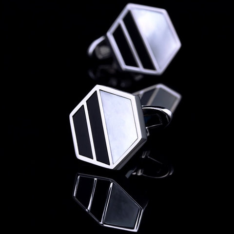 products/Hexagonal-Frame-Pearl-_-Black-Face-Polished-Silver-Cufflinks-1.jpg