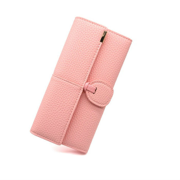 <p><b>IMPRESSION</b><br><p>Top Flap Grained PU Leather Purse</p>