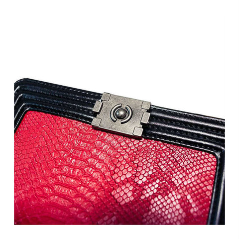 products/Indulgence-Python-Pattern-Shoulder-Bag-Messenger-Style-Handbag-In-Black-Leather-With-Red-Python-Pattern-And-Polished-Chain-Image-2.jpg