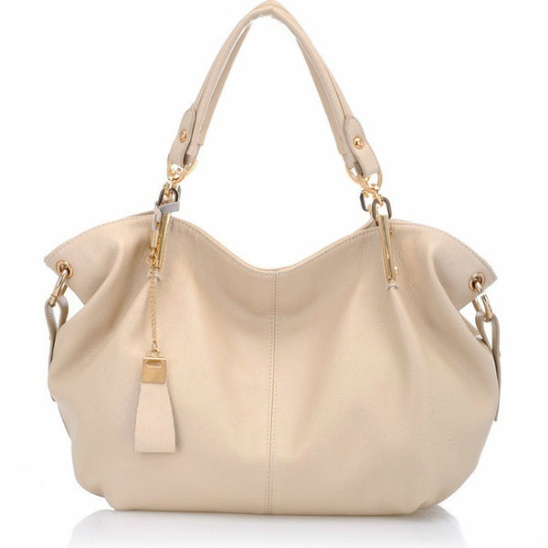 <p><b>MADEMOISELLE</b><br><p>Gold Detail Top Handle Leather Handbag</p>