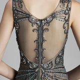 "<p style=""font-size: 18px;""><b>GATSBY</b></p><p style=""color:grey"">EMBELLISHED GOWN WITH CRYSTAL NECKLACE-ANTIQUE</p>"