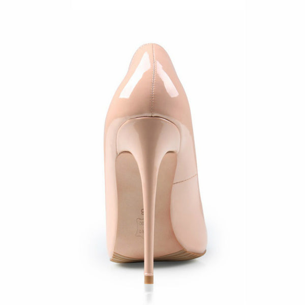 <p><b>NUDEY</b><br><p>Patent Leather Pointed Court Heels</p>
