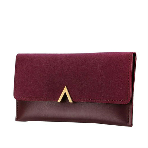 <p><b>OBSESSION</b><br><p>Gold V Hardware Nubuck Leather Purse</p>