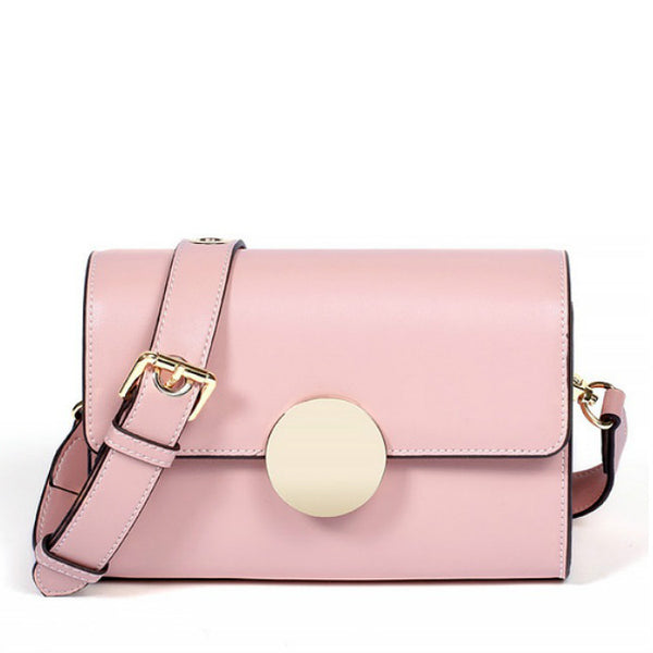 <p><b>ODYSSEY</b><br><p>Solid Ring Leather Shoulder Bag</p>