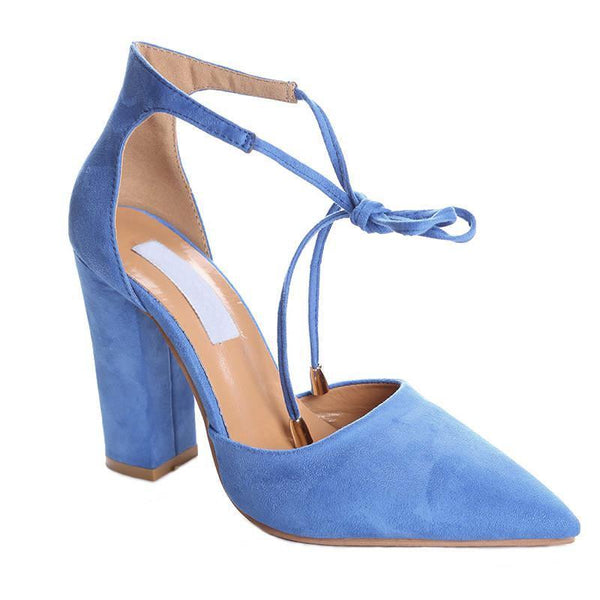 <p><b>PLEASURE</b><br><p>Flock Suede Court Heels</p>