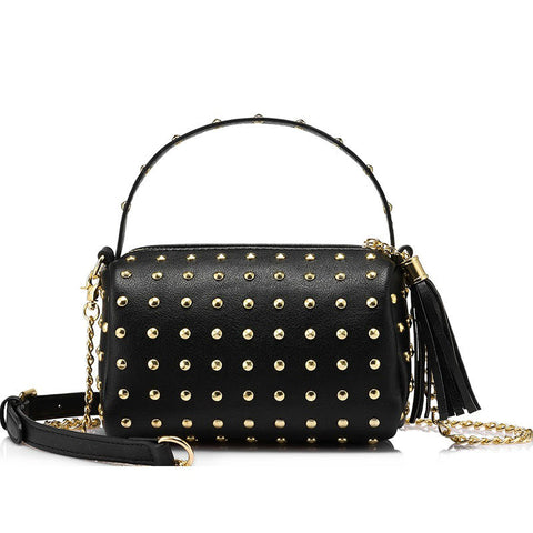products/Rockstar-Mini-Clutch-Gold-Stud-Crossbody-Bag-Black-Colour-Tassel-Zip-Shoulder-Handbag-Image-1.jpg