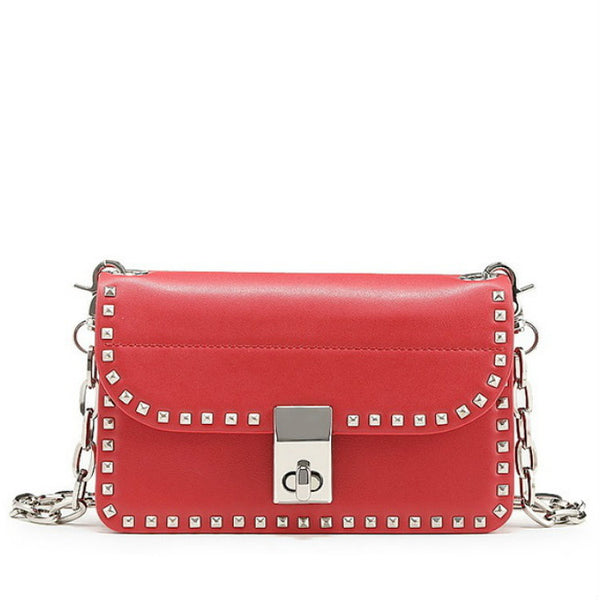 TEMPTATION - Genuine Leather Riveted Crossbody Bag