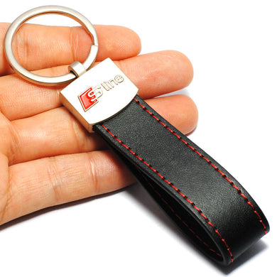 Key Ring Leather For Audi SLine