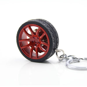 Key RIng With Wheel Car