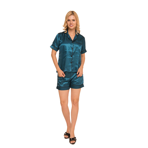 Satin Pajama Set by Allegro c.1032 - Allegro Styles