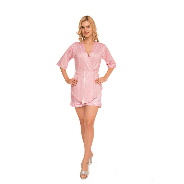 Satin shorts wrap Robe, Created by Allegro c.1046 - Allegro Styles