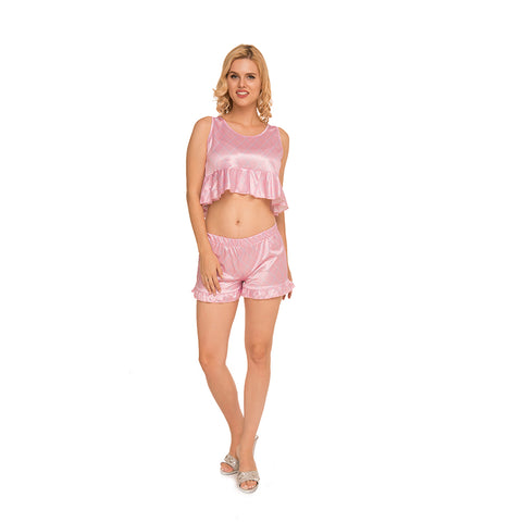 Satin Tank top and Shorts c.1047 - Allegro Styles