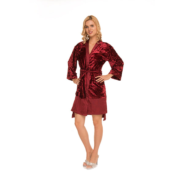 Crushed Velvet Robe c.1059 - Allegro Styles