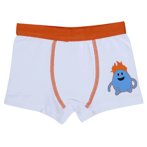 Boys Boxers c.410 White and Orange - Allegro Styles