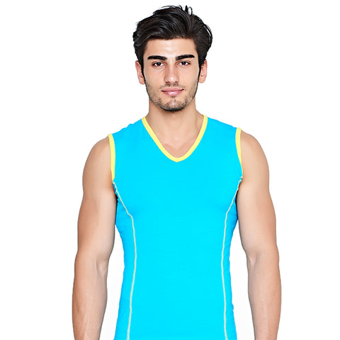 Men's colored sleeveless v-neck c.38-2 - Allegro Styles