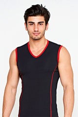 Men's colored sleeveless v-neck c.25 - Allegro Styles