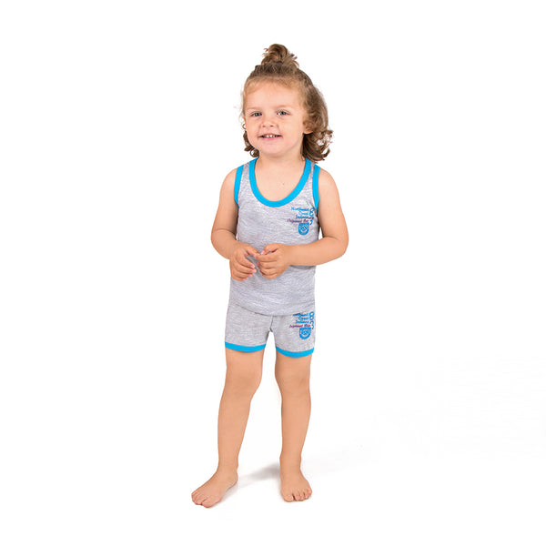 Boys colored set Vests and shorts c.403a