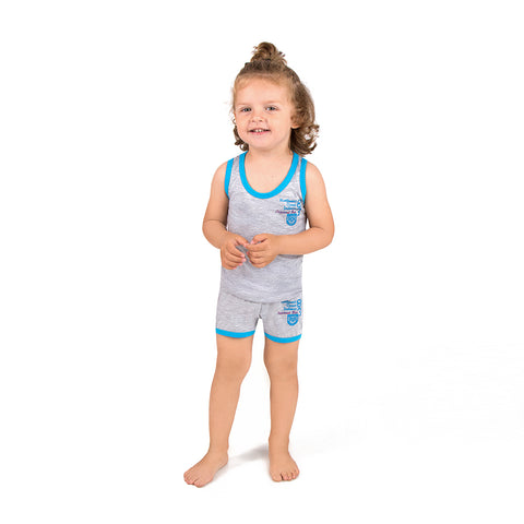 Boys colored set Vests and shorts c.403a - Allegro Styles