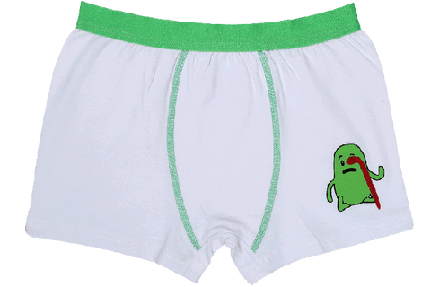Boys Boxers c.410 White and Green - Allegro Styles