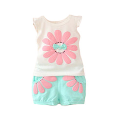 Girls Flower Print Set c.519 - Allegro Styles