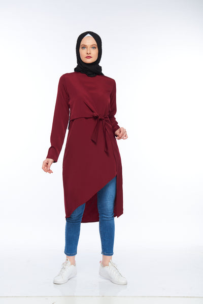 Burgundy Modesty Top