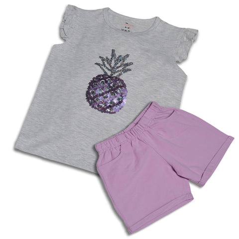 Pineapple Sequinnes Girls Casual Wear