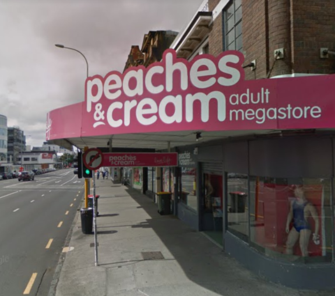 Peaches and Cream store on K' Road, Auckland