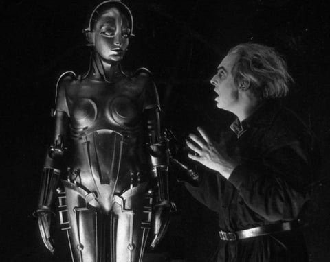 "Film still from the 1927 sci-fi movie ""Metropolis"""