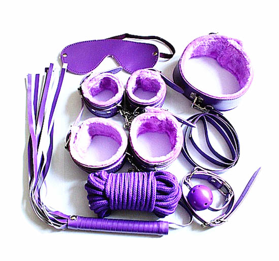 Purple colour S&M Bondage kit deluxe On Sale Now!