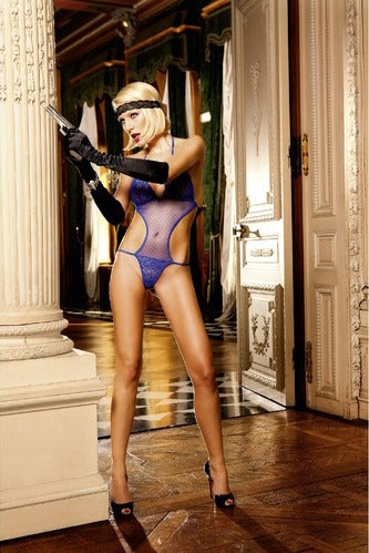BACI 252 Lace and Mesh Teddy OS - Blue