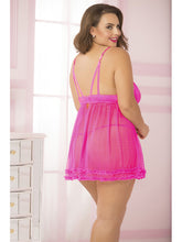 Load image into Gallery viewer, Plus Sized Pink Babydoll
