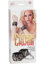 Load image into Gallery viewer, Extreme Pure Gold Platinum Leopard Cuffs