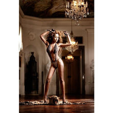 Load image into Gallery viewer, BACI 069 Lace Teddy OS - Leopard/Black