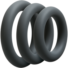 Load image into Gallery viewer, 3 piece set of cock rings of various sizes