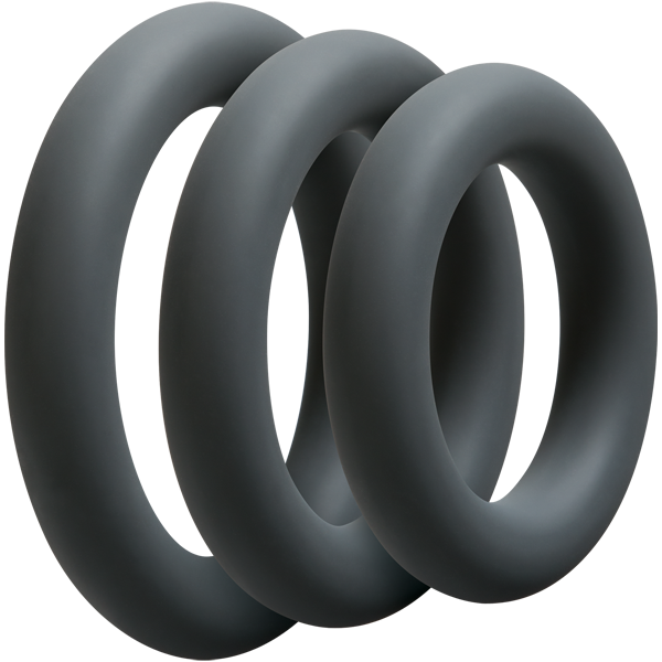 3 piece set of cock rings of various sizes