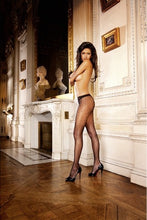 Load image into Gallery viewer, BACI 214 Fishnet Jacquard Pantyhose OS - Black