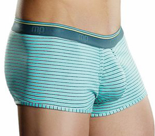 Load image into Gallery viewer, Male Power Blue Heather Stripe Pattern Boxers