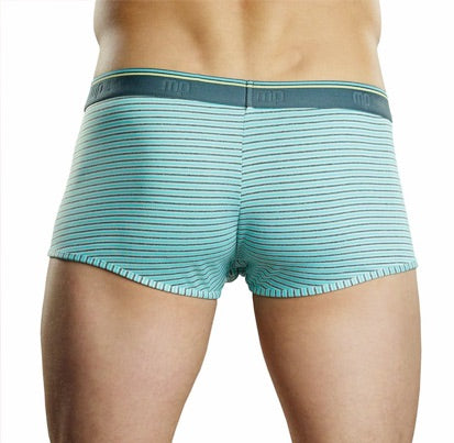 Male Power Blue Heather Stripe Pattern Boxers