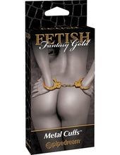 Load image into Gallery viewer, Fetish Fantasy Gold - Gold Metal Cuffs