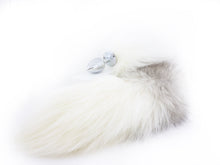 Load image into Gallery viewer, Arctic Fox Tail Metal Butt Plug - Natural fur