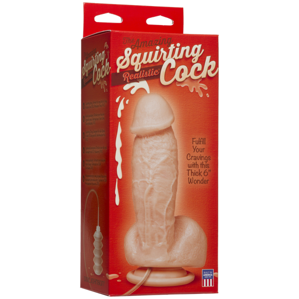 The Amazing Squirting Realistic Cock 6inch