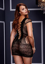 Load image into Gallery viewer, Black Queen Size Front Lace Mini