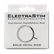 Load image into Gallery viewer, ElectraStim ElectraRing Solid Metal Cock Ring - 34mm