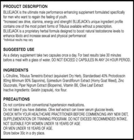 Blue Jack Product Description and Ingredients