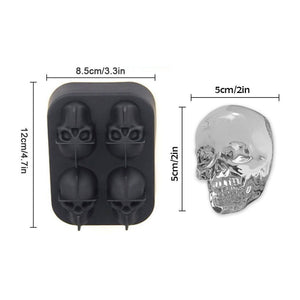 Mold Ice Cube Tray death 3D Heads